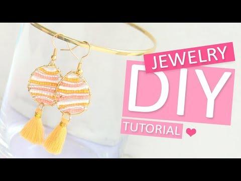 DIY Tutorial - Oorbellen maken met Miyuki en Artistic Wire - Zelf sieraden maken