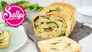 Spinat-Schafskäse-Brot mit Wirbel