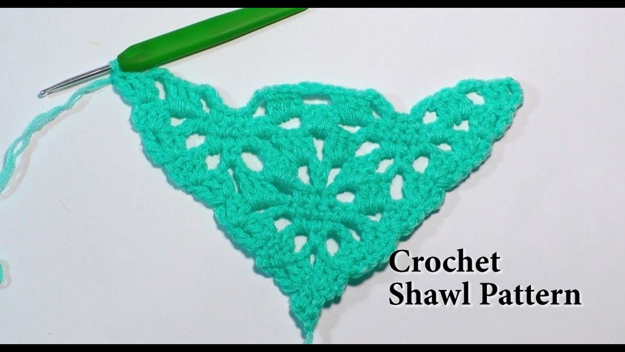 Easy Crochet Shawl Tutorial Lace shawl