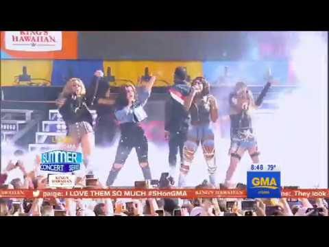 Fifth Harmony Feat Gucci Mane - Down (Live @ Good Morning America 02/06/2017)