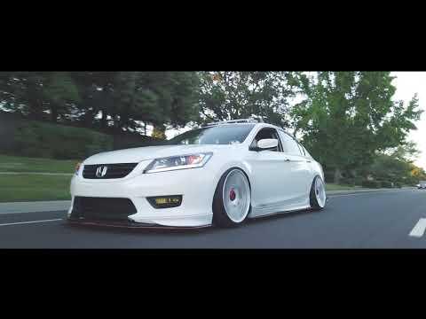 9th gen 2015 Honda Accord bagged on Rotiform wheels