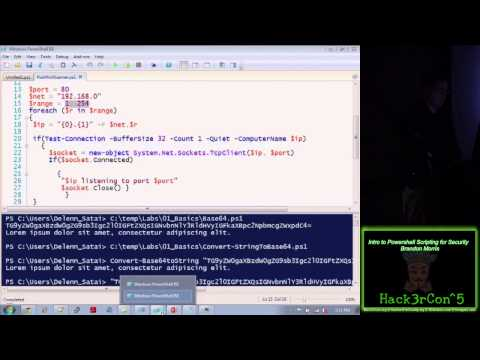 Intro to Powershell Scripting for Security Brandon Morris