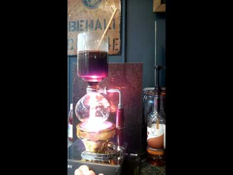 Brewing Harar coffee in the Syphon 1