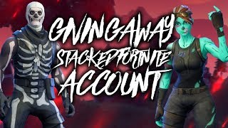 FORTNITE SKULL TROOPER GIVEAWAY!! | HOW TO GET A STACKED FORTNITE ACCOUNT FOR FREE!