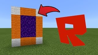How To Make a Portal to the Roblox Dimension in MCPE (Minecraft PE)