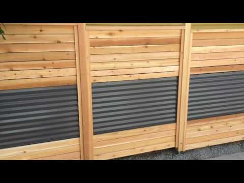 Corrugated Roofing Cedar Fence