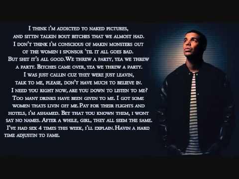 Drake - Marvin\'s Room w/ Lyrics - YouTube