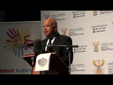 Pravin Gordhan speaking at Shirish Nanabhai's funeral
