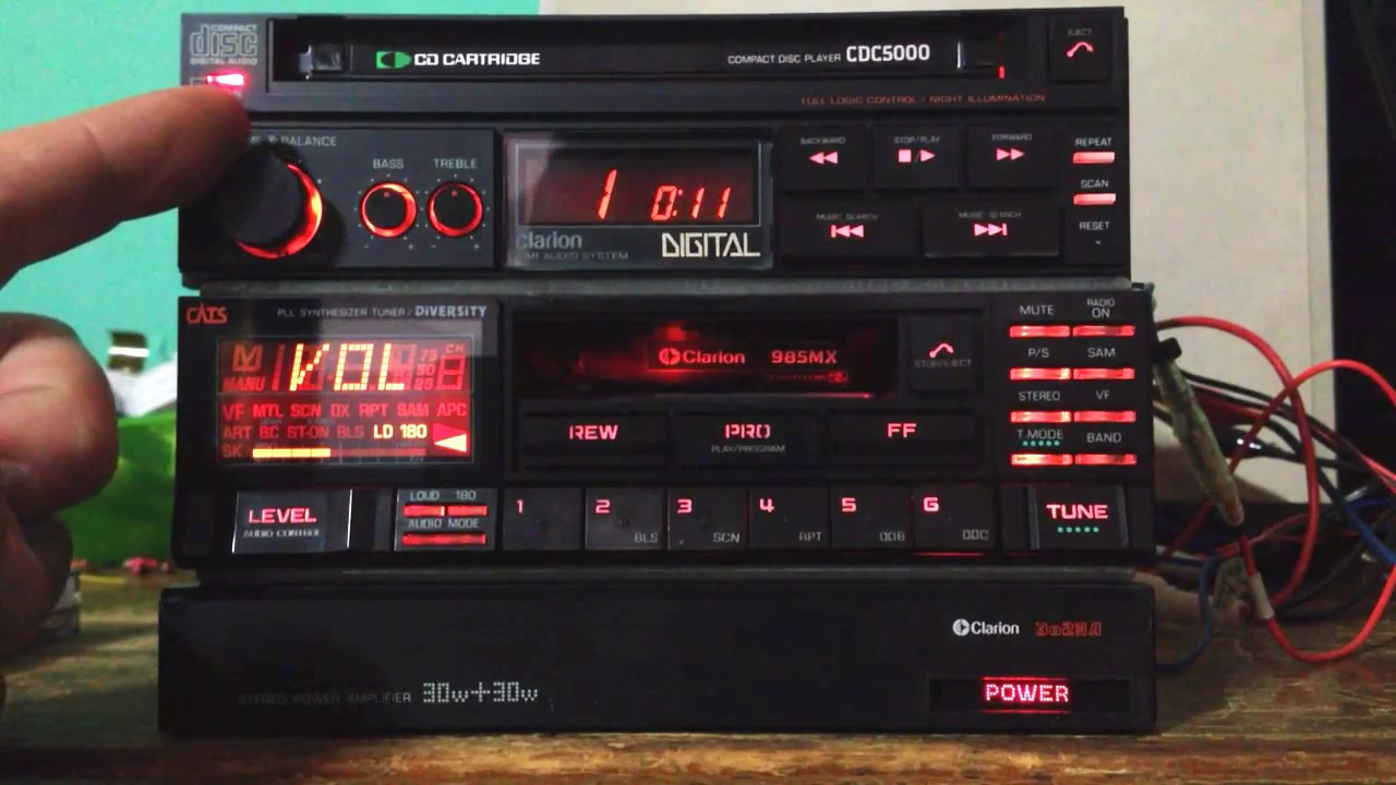 Clarion Car Stereo Vintage