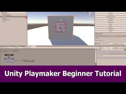 Unity Playmaker Tutorial for Beginners