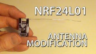 Cheap DIY NRF24L01 Antenna Modification