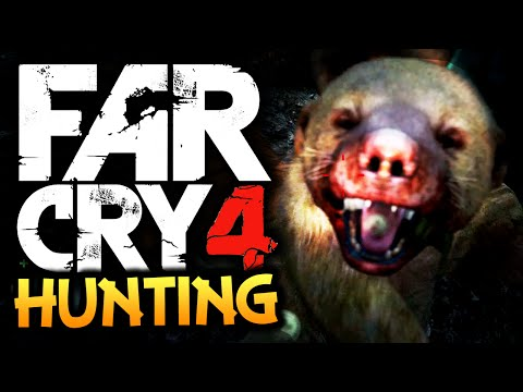 far-cry-4:-funny-moments---hunting!---(rare-honey-badger,-tigers,-dholes)