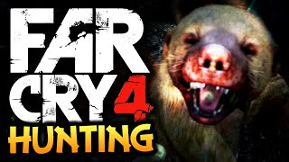 Far Cry 4: Funny Moments - HUNTING! - (Rare Honey Badger, Tigers, Dholes)