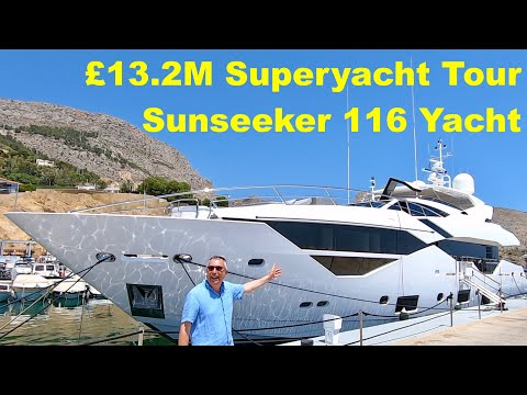 £13.2M Superyacht Tour : Sunseeker 116 Yacht