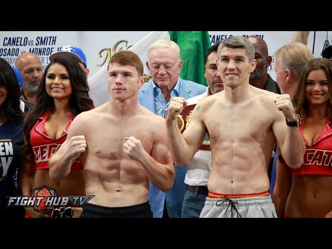 Canelo Alvarez vs. Liam Smith COMPLETE Weigh In and Face Off Video