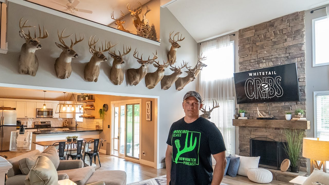 Whitetail Cribs: Ohio Home Full of Giant Whitetails, Elk, Moose, and Bears