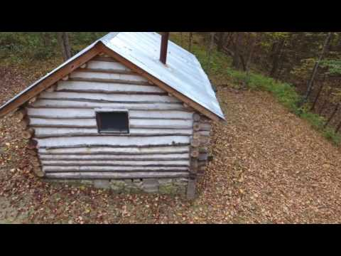 Log cabin shot with phantom 4 drone in Dresden Ohio