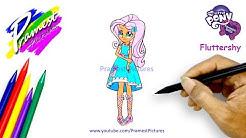 Pinkie Pie Menggambar Dan Mewarnai Gambar Kuda Poni Equestria Girls