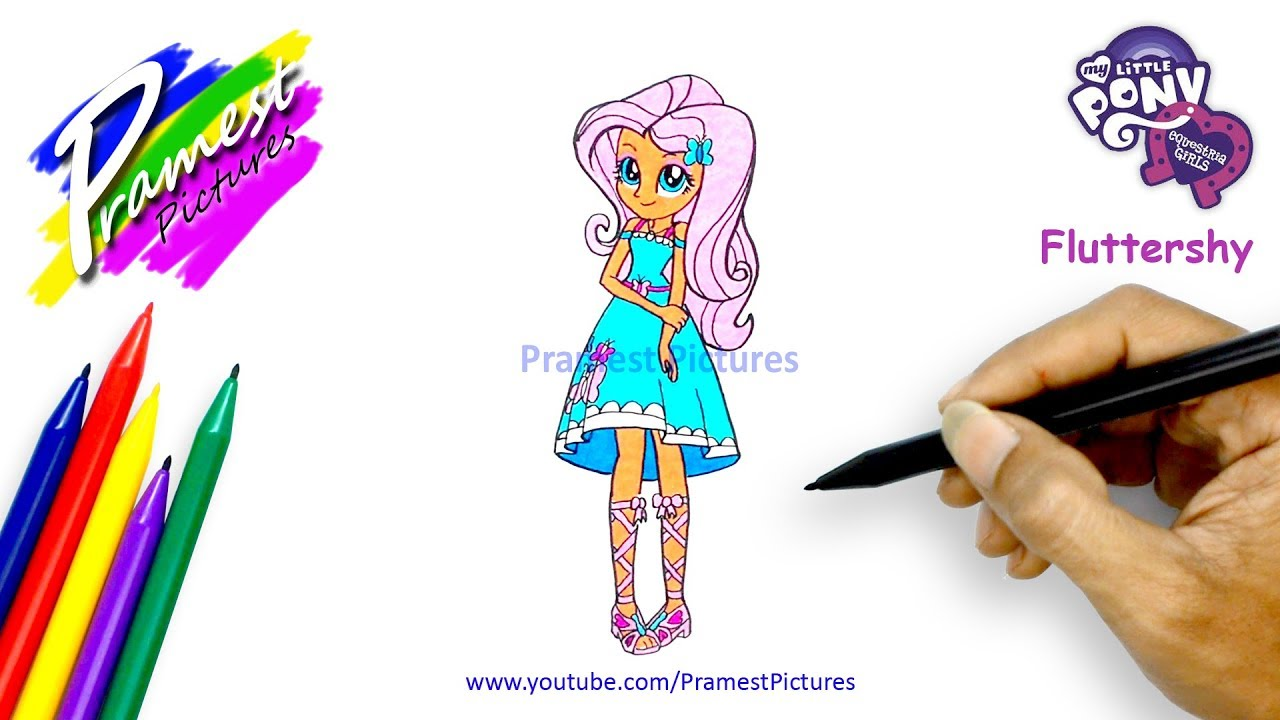 How To Draw Fluttershy My Little Pony Equestria Girls Coloring Pages