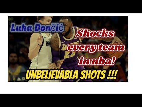 Luka Dončić  Shocks every team in nba! unbelievable shot!! watch in HD