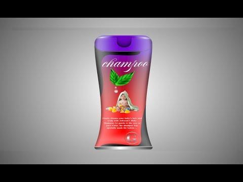 How To Design Bottle Shampoo 3d / Realistic Mockup /Tutorial thumbnail