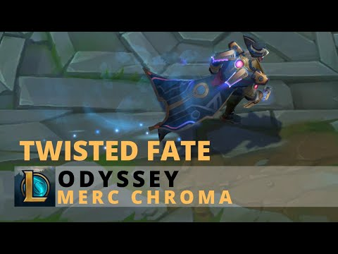Odyssey Twisted Fate Merc Chroma - League Of Legends