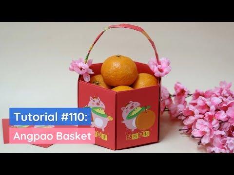 DIY Angpao Basket Tutorial 新年裝飾小籃子制作   The Idea King Tutorial #110