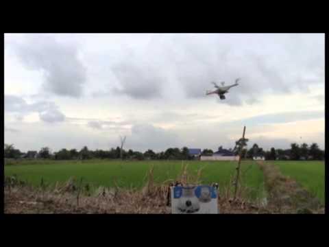 กระประยุกต์ใช้ drone ไล่นกนาข้าว