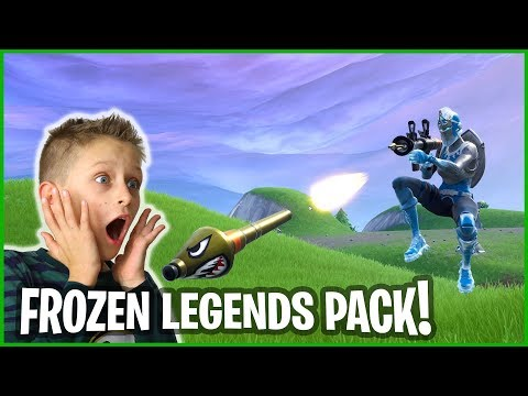 Trying Out Frozen Legends Skins Pack!