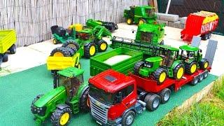 BRUDER SPIELWAREN FARM News tractors Combine harvester