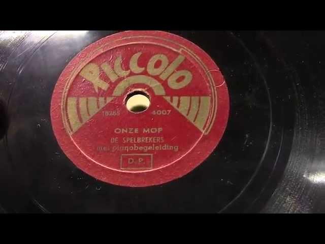 De Spelbrekers: Toen onze Mop een Mopje was. (kinderplaatje) 1950.