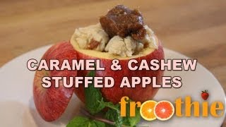 Caramel And Cashew Stuffed Apples On Getting Into Raw: Cooking With Zane - Optimum 9900