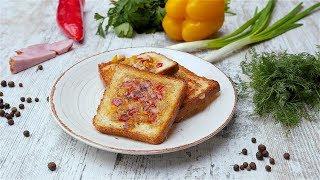 Горячие бутерброды с сыром на сковороде  - Рецепты от Со Вкусом
