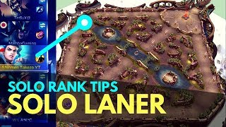 how to solo lane or off lane solo rank tips mobile legends