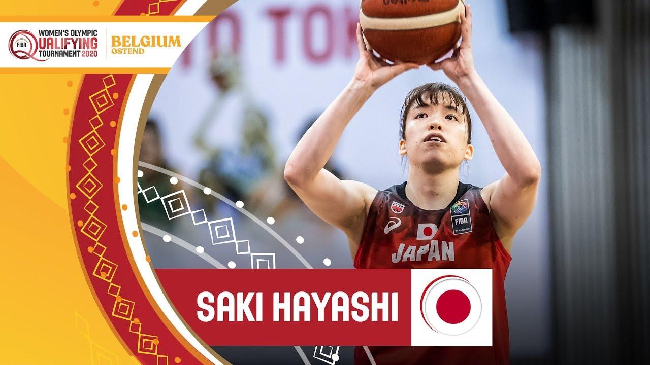 Hayashi's insane show (8 3-pointers) vs Belgium - FIBA Women's Olympic Qualifying Tournament 2020