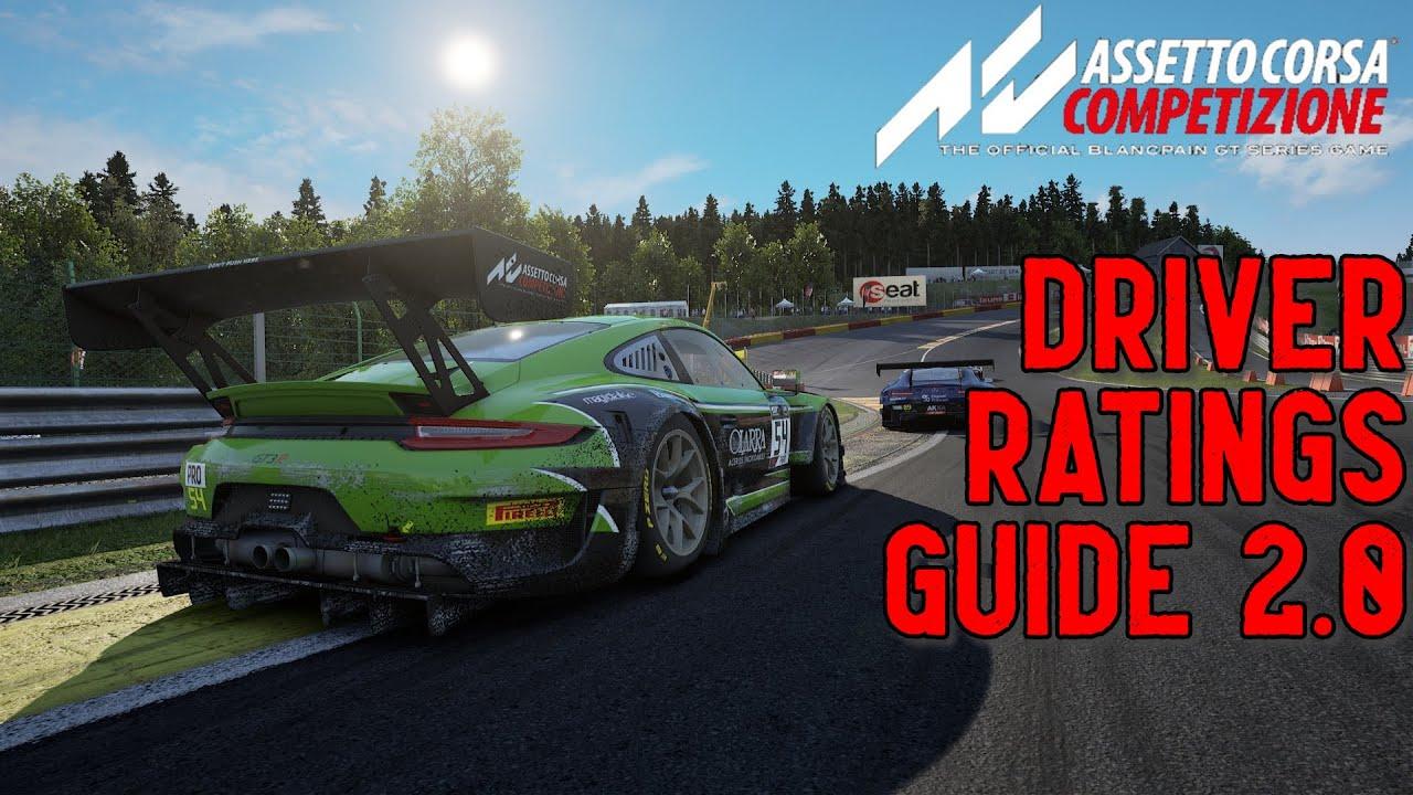 Video: Assetto Corsa Competizione Driver Ratings Guide 2.0