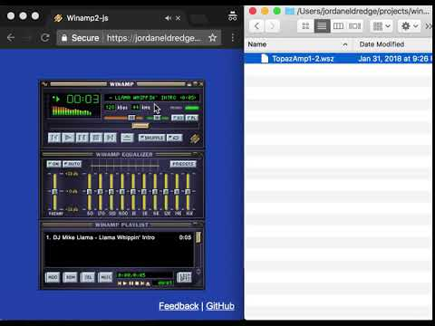 A Tour of Winamp2-js Features / Jordan Eldredge