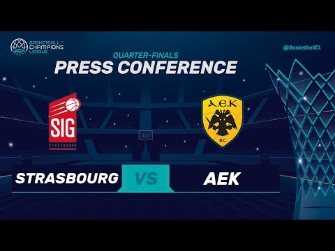 SIG Strasbourg v AEK - Press Conference - Basketball Champions League 2017