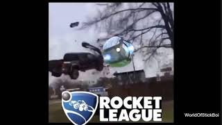 the car flew into the rocket league