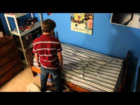 Fastest way to clean your room.