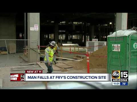 Worker injured in equipment fall at Phoenix construction site