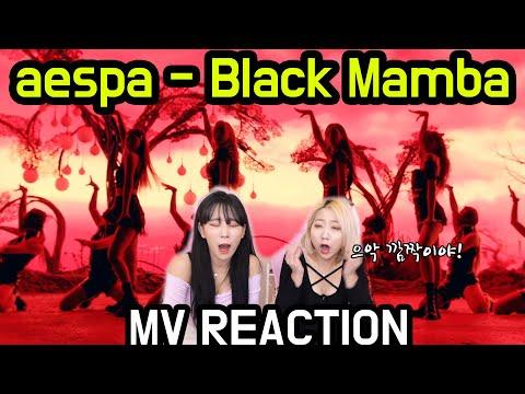 aespa 에스파 - 'Black Mamba' MV REACTION 뮤비 리액션