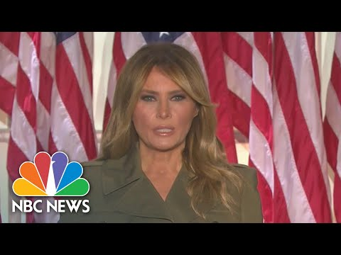 Watch Melania Trump's Full Speech At The 2020 RNC | NBC News