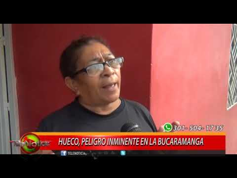 HUECO, PELIGROSO INMINENTE EN LA BUCARAMANGA