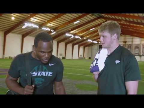 Collin Klein and Chris Harper discussing KansasStateCars.com
