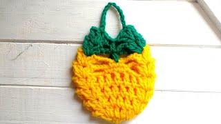 Pina / Ananá tejida a crochet #Adornocrochet #Piña crochet