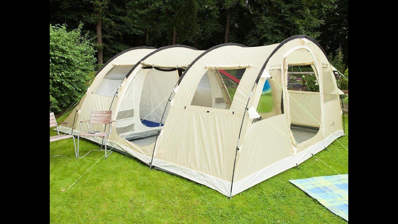 HIGH PEAK Tunnelzelt Alghero 4 Personen Camping Familien Zelt 2 Kabinen Vorraum