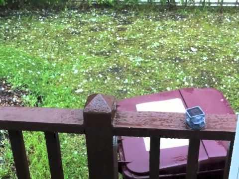Hailstorm - Oak Island, Massachusetts - July 18, 2012