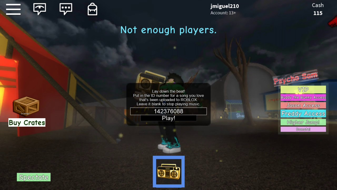 not online roblox id