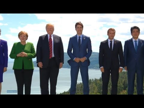 G7 Summit 2018 in Quebec, Canada. Group photo. June 8, 2018.